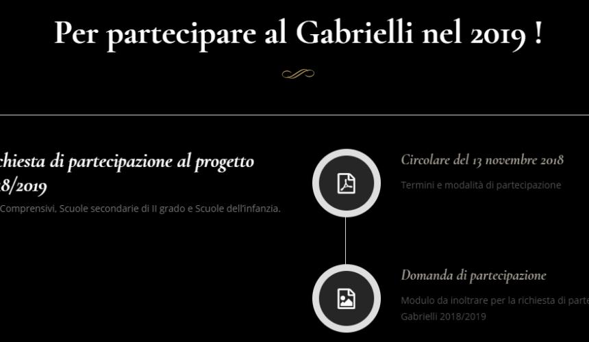 Per partecipare al Gabrielli nel 2019 !