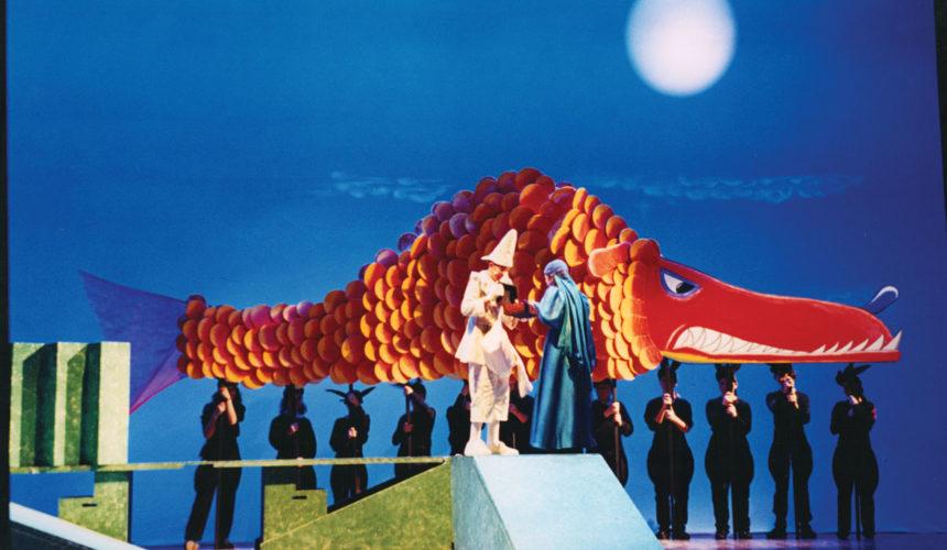 Scena di Pinocchio nella balena