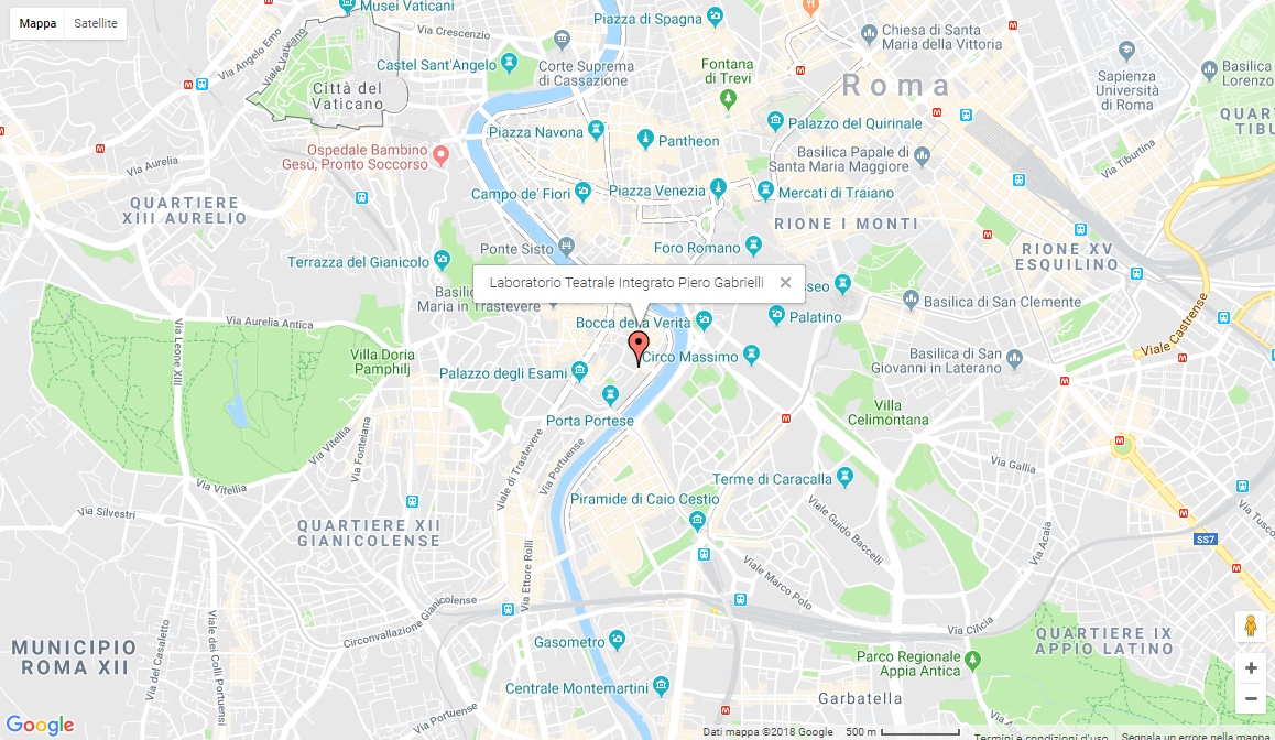 Mappa della sede del Piero Gabrielli