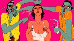 Immagini a Fumetti rappresentanti atti di Gelosia